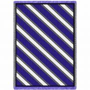 Spirit Blue Gray and White Blanket 48x68 inch