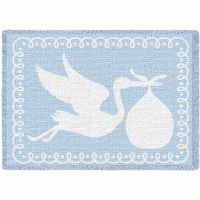 Stork Blue Small Blanket 48x35 inch