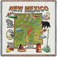 New Mexico State Small Blanket 54x54 inch