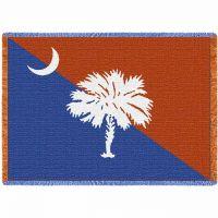 Palmetto Orange and Blue Blanket 48x69 inch
