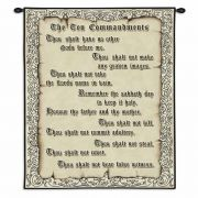 The Ten Commandments Wall Tapestry 26x32 inch