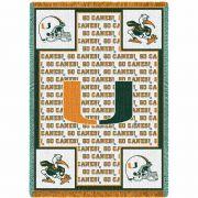 University of Miami Go Canes Stadium Blanket 48x69 inch