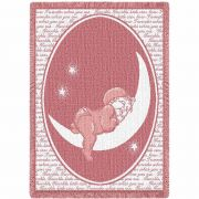 Twinkle Twinkle Little Star Pink Small Blanket 48x35 inch