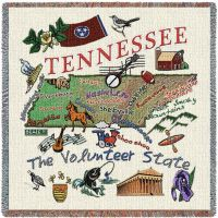 Tennessee State Small Blanket 54x54 inch