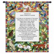 St Francis of Assisi Wall Tapestry 34x26 inch