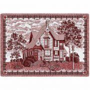 Victorian Cranberry Blanket 48x69 inch