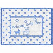 Welcome Baby Boy Small Blanket 48x35 inch