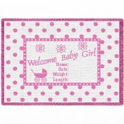 Welcome Baby Girl Small Blanket 48x35 inch