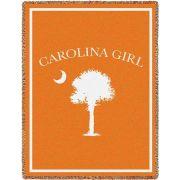 Carolina Girl Orange Small Blanket 35x48 inch