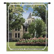 University Of Wisconsin OshKosh Campus Wall Tapestry 26x34 inch