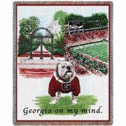 University of Georgia Stadium Blanket 54x70 inch