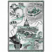 West Virginia Blanket 48x69 inch