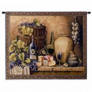 Wine Tasting Small Wall Tapestry 34x26 inch