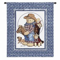 Curly Bears Wall Tapestry 26x31 inch
