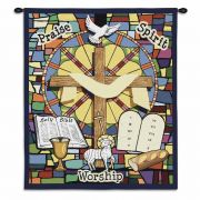 Sunday School Wall Tapestry 34x26 inch