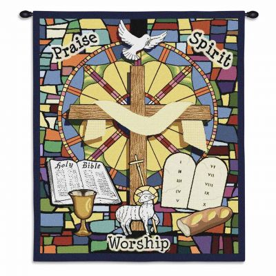 Sunday School Wall Tapestry 34x26 inch - 666576695820 - 3854-WH