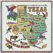 Texas State Small Blanket 54x54 inch
