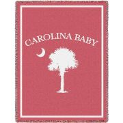 Carolina Baby Pink Small Blanket 35x48 inch