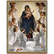 The Virgin with Angels Blanket 53x70 inch