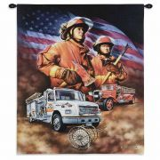 Firefighter Wall Tapestry 36x24 inch