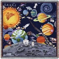 Solar System Small Blanket 53x53 inch