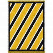 Spirit Black and Yellow Small Blanket 48x35 inch
