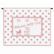 Welcome Baby Girl Wall Tapestry 32x26 inch