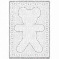 Big Teddy White Natural Small Blanket 48x35 inch