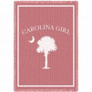 Carolina Girl Pink Small Blanket 48x35 inch