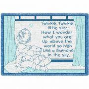 Twinkle Twinkle Blue Small Blanket 48x35 inch