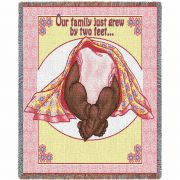 Two Feet Pink 2 Mini Blanket 54x49 inch