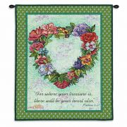 Treasured Heart Wall Tapestry 26x34 inch