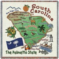 South Carolina State Small Blanket 54x54 inch