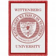 Wittenberg University Seal Stadium Blanket 48x69 inch