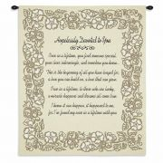 Wedding Embroidery Gold Wall Tapestry 26x32 inch