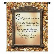 God Grant Me The Serenity II Wall Tapestry 34x26 inch