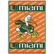 University of Miami Mascot Small Stadium Blanket 48x35 inch