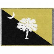 Palmetto Gold and Black Blanket 48x69 inch