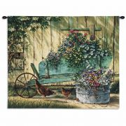 Spring Social Wall Tapestry 32x26 inch