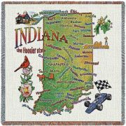 Indiana State Small Blanket 54x54 inch