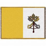 Vatican Flag Blanket 69x48 inch