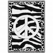 Zebra Peace Blanket 48x69 inch