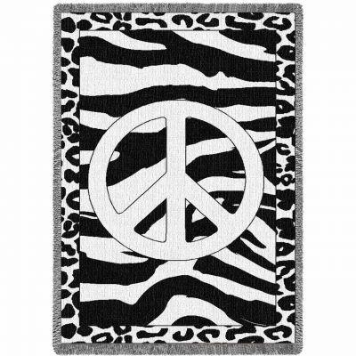 Zebra Peace Blanket 48x69 inch - 666576701125 - 6342-A