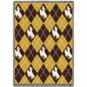 University of Wyoming Argyle Stadium Blanket 48x69 inch