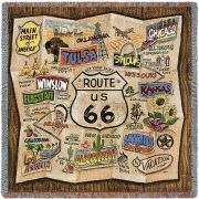 Route 66 Small Blanket 53x53 inch