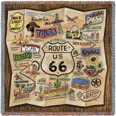 Route 66 Small Blanket 53x53 inch - 666576124245 - 5269-LS