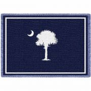South Carolina State Flag Small Blanket 48x35 inch
