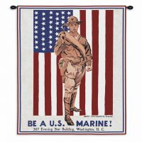 Be A Marine Wall Tapestry 24x36 inch