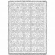 Stars White Natural Blanket 48x69 inch