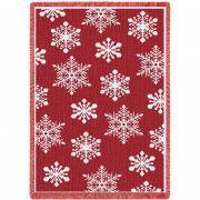 Snowflakes Red Mini Blanket 48x8 inch